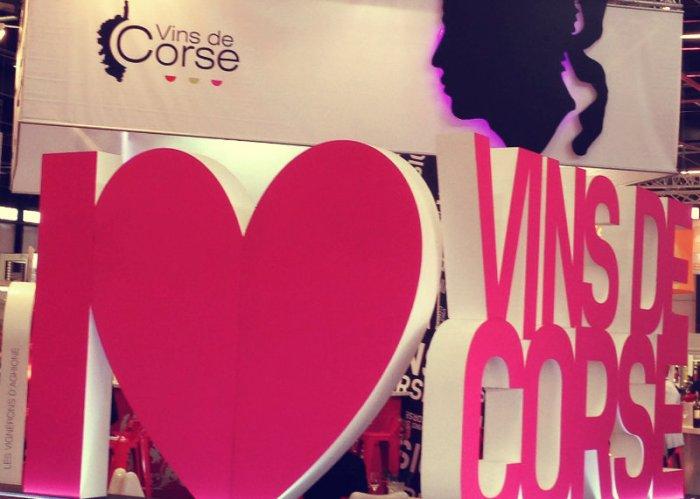 Stand des vins de Corse lors de Vinexpo2015