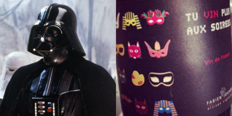 Accords vins et Star Wars - Darth Vader - Tu Vin Plus Aux Soirees Fabien Jouves