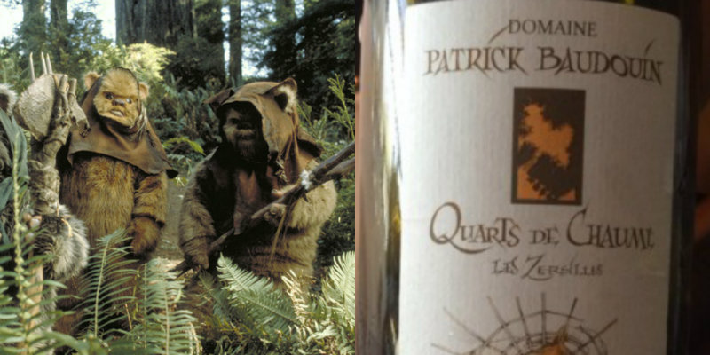 Accords vins et Star Wars - Ewoks - Quarts de chaume Les Zersilles Patrick Baudouin
