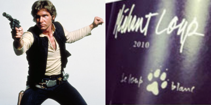 Accords vin star wars - Han Solo - Mechant Loup Vignoble du Loup Blanc