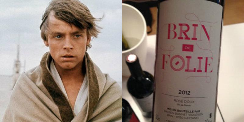 Accords vins et Star Wars - Luke Skywalker - Brin de Folie du Domaine de Brin