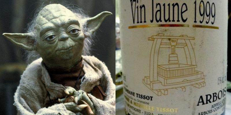 Accords vins et Star Wars - Yoda vin jaune Stephane Tissot