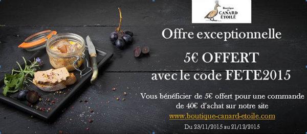 Offre de réduction e boutique Canard Etoilé