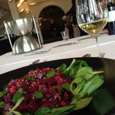 Salade de betteraves - Les demoiselles de Larrivet Haut Brion 2012 - accords mets vins