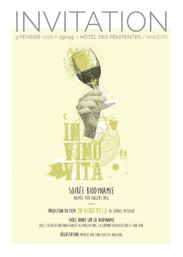 Invitation soirée In Vino Vita