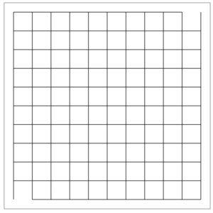 10x10 maze grid created using the makeGraph command