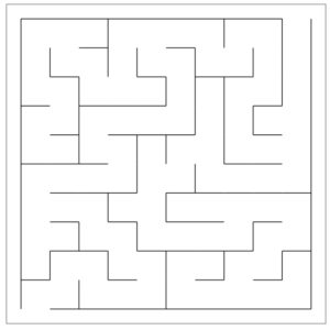 Maze generated using the recursive backtracker algorithm