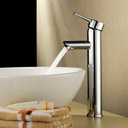 Zingcord Single Handle Contemporary Bathroom Lavatory Vanity Vessel Sink  Faucet Chrome Tall Spout Deck Mount Bathtub Faucet Mixer Taps Cheap Discount  ...
