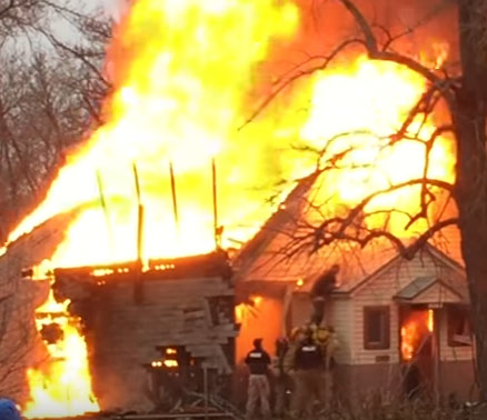 INFERNO: Ogden Home Explodes, Man Jumps From Flames