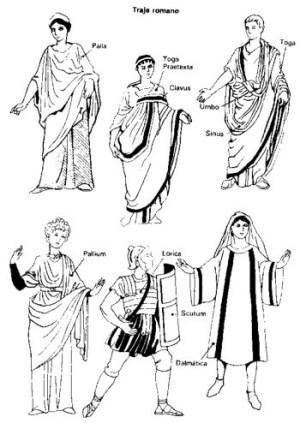 trajes romanos
