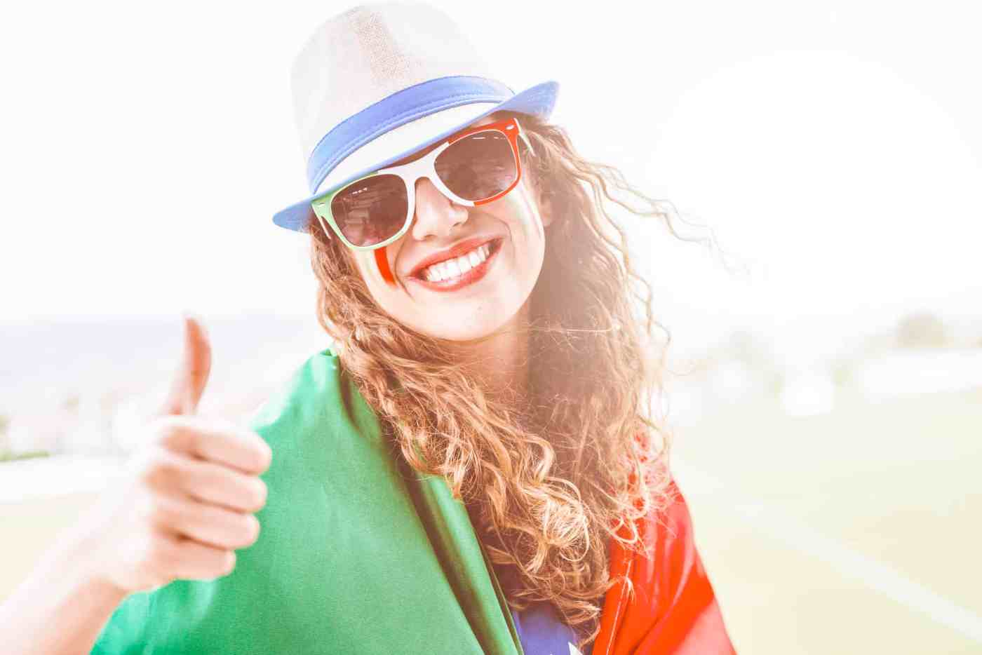 Female Supporter from italy at Stadium