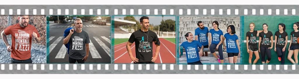runner indossano magliette personalizzate con scritte