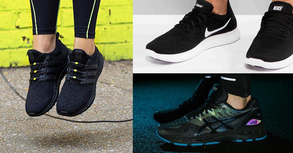 Scarpe da ginnastica nere eleganti, comode e belle