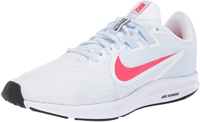 Nike Downshifter 9, Scarpe da Trail Running Donna, Bianca con baffo Nike rosso