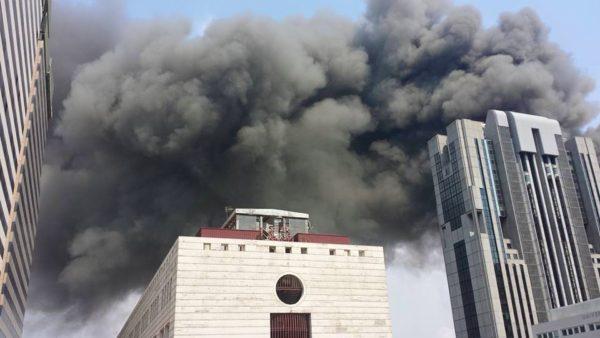 Incendio Napoli Gianturco Centro Direzionale