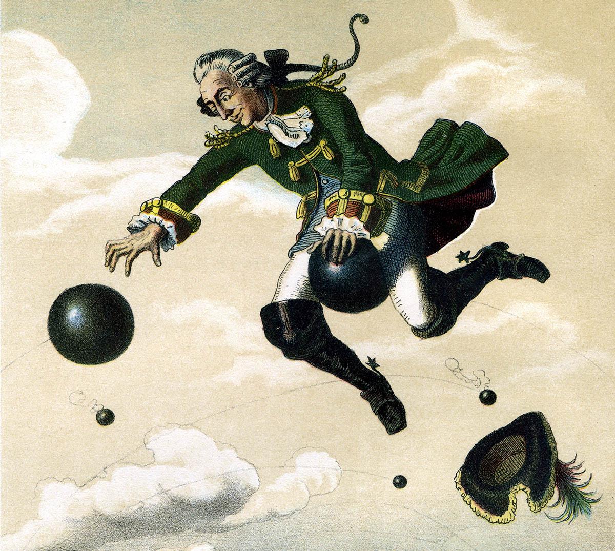 Baron von Münchhausen. Målning av August von Wille (1829–1887). Licens: public domain