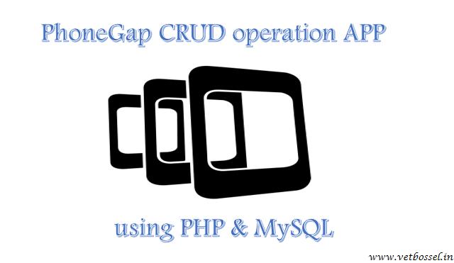 phonegap crud operation app using php mysql