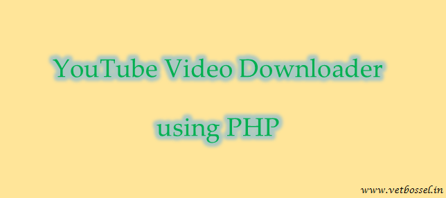 youtube video downloader using php