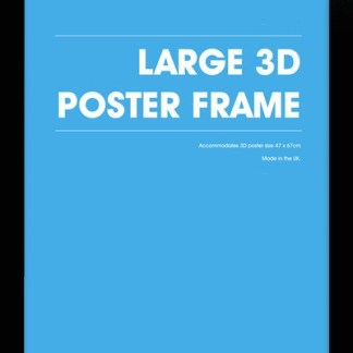 Zwarte wissellijst 3D large 47x67cm