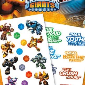 Skylanders Giants Tattoo Pack