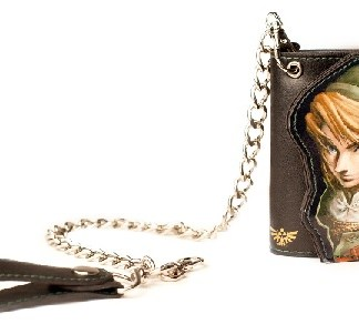 Zelda Photo Print Trifold Chain Wallet