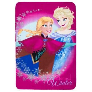Disney Frozen Eternal Winter Fleecedeken Roze 100cm x 140cm