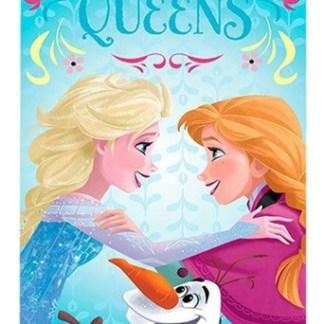 "Frozen Velours Strandlaken "" Sister Queens"""
