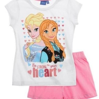 Disney Frozen Be strong in your Heart Shortama Roze maat 110
