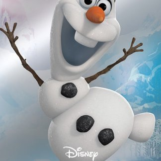 Frozen Metallic Foil Olaf Poster 47 x 67cm