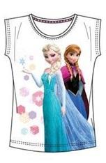 "Disney Frozen T-shirt ""Elsa en Anna Stars Wit ""5 jaar"""