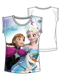 "Disney Frozen T-shirt ""Elsa, Anna en Olaf Wit ""5 jaar"""