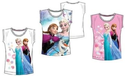 "Disney Frozen T-shirt ""Elsa, Anna en Olaf Wit ""6 jaar"""