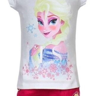 "Disney Frozen Shortama Elsa Stars wit/roze "" 4 jaar"""