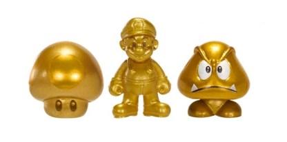 Microset Gold Series Mario-Super Mushroom-Goomba 2cm