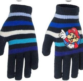 "Super Mario Handschoenen ""striped blue"""