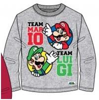"Super Mario Bros T-shirt Longsleeve ""Team Mario - Team Luigi"" Maat 140"