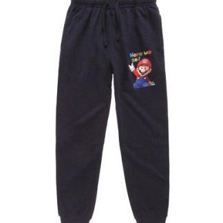 Super Mario Joggingbroek donkerblauw maat 140 `10 jaar`