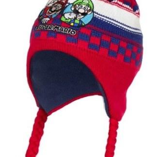 Super Mario Ski Muts rood-blauw maat 52