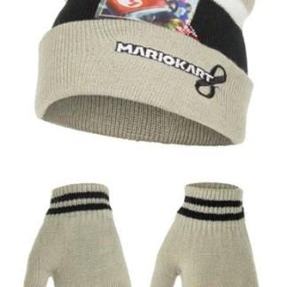 """Super mariokart 8 Muts incl. handschoenen Grijs """"maat 52"""""""