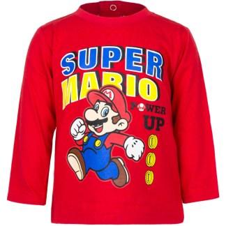 """Super Mario baby t-shirt lange mouw Rood """" 6 maanden"""""""