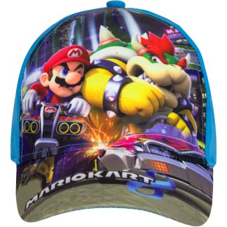 "Super Mariokart 8 Cap Mario en Bowser ""maat 52"""