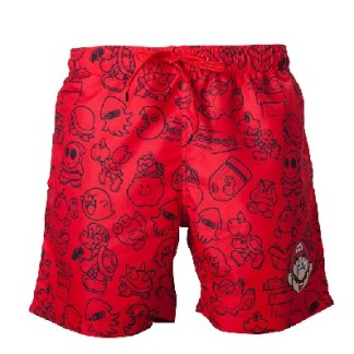 Nintendo mario zwemshort rood