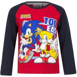 Sonic Shirt Too Easy rood