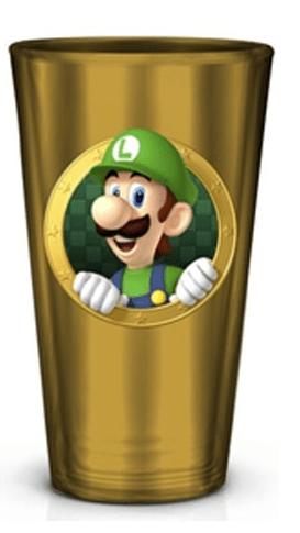NINTENDO - Super Mario - Luigi glazen drinkbeker met print!