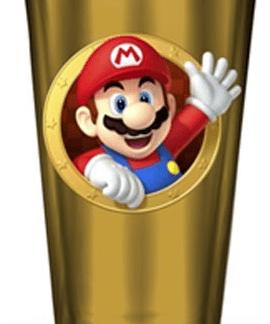 Super Mario glazen drinkbeker
