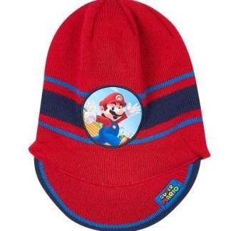 "Super Mario Bros Gebreide muts rood ""maat 52"""