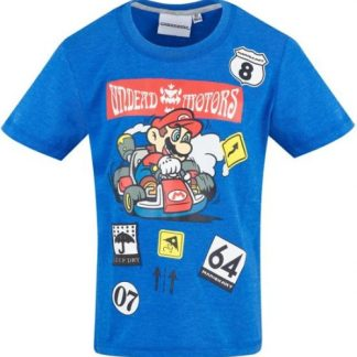 Super Mario T-shirt met korte mouw blauw!