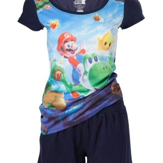 NINTENDO - MARIO EN YOSHI ALL OVER PRINTED SHORTAMA