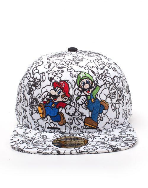 fcc12fff0b1 Super Mario en Luigi Cap Screen Print 2D Embroidery Snapback