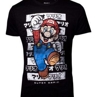 Nintendo -Super Mario Kanto heren T-shirt zwart